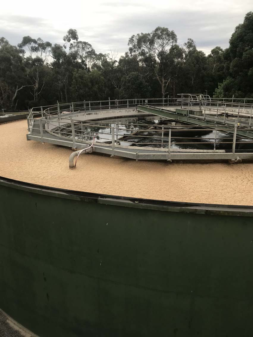 liquid waste removal from brushy creek tank