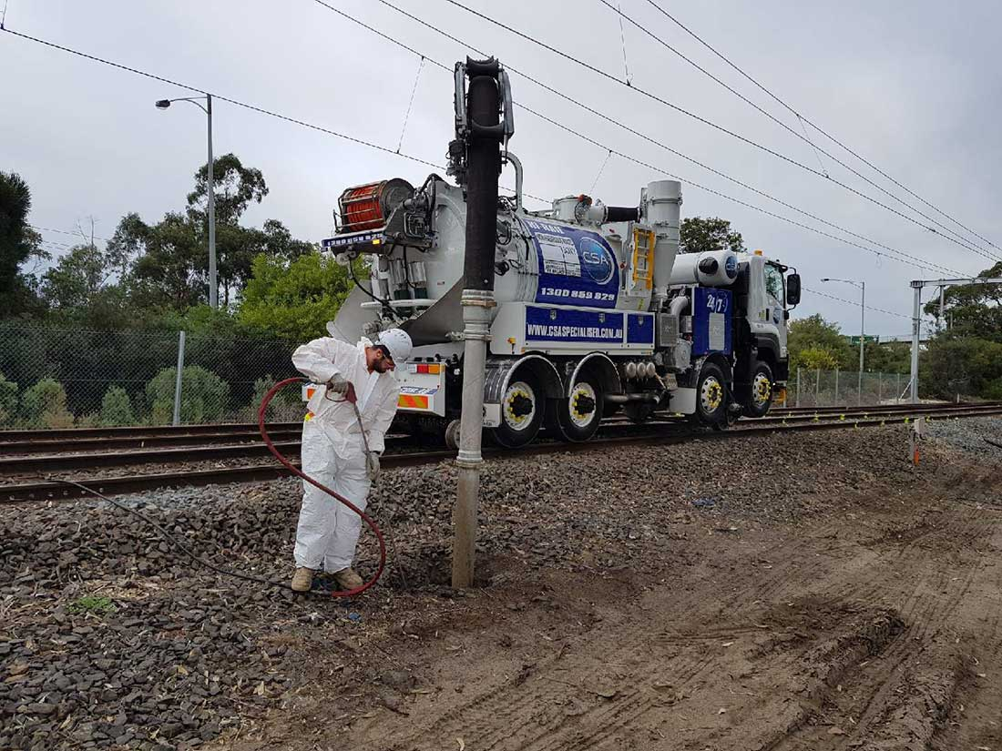 Non Destructive Digging with Hi-Rail Truck Melbourne